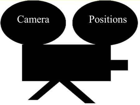 PositionsCamera. Camera Angle The camera angle helps to determine the point of view of the camera. This is very important since viewers have seen much.