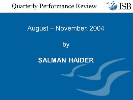 August – November, 2004 by SALMAN HAIDER. SERIALS:  Receiving the journals through VTLS and accessioning - ongoing  Sending Reminders - once in a month.