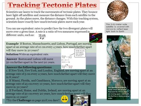 Tracking Tectonic Plates