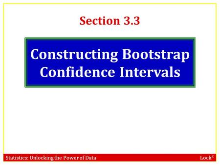 Constructing Bootstrap Confidence Intervals
