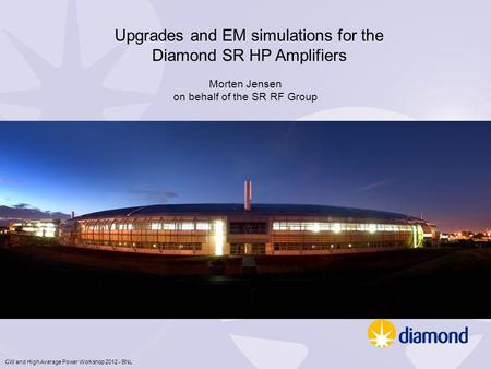 Upgrades and EM simulations for the Diamond SR HP Amplifiers