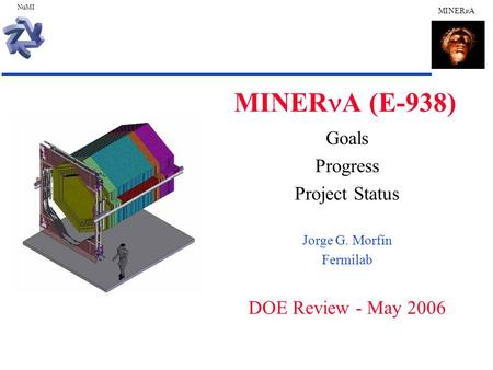 NuMI MINER A MINER A (E-938) Goals Progress Project Status Jorge G. Morfín Fermilab DOE Review - May 2006.
