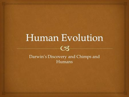 Darwin's Discovery and Chimps and Humans.   BI.7 a. Students know why natural selection acts on the phenotype rather than the genotype of an organism.
