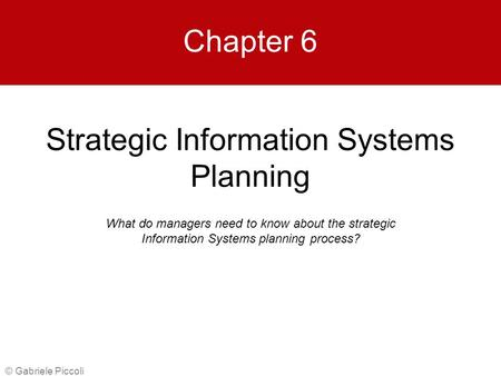 strategic information systems notes Document for guiding health information system design, planning and  note  about the his vision: one of the early products of the process is.