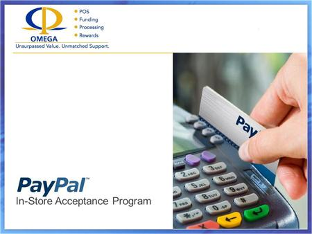 In-Store Acceptance Program. Highlights What's New with PayPal How It Works Card Review The Addendum.
