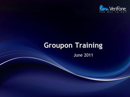 Groupon Training June 2011.