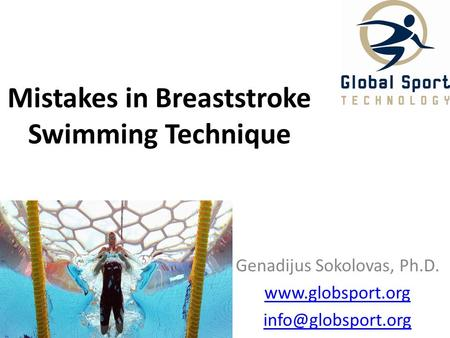 Mistakes in Breaststroke Swimming Technique