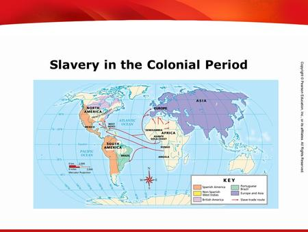 TEKS 8C: Calculate percent composition and empirical and molecular formulas. Slavery in the Colonial Period.