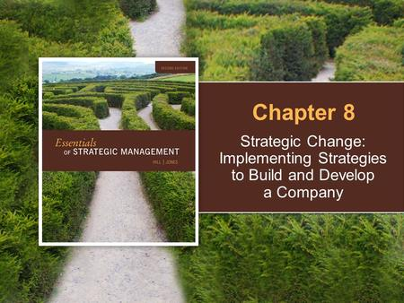 Strategic Change: Implementing Strategies to Build and Develop a Company Chapter 8.