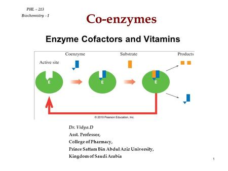 Enzyme Cofactors and Vitamins