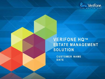 verifone HQtm Estate Management Solution
