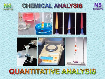 After completing this topic you should be able to : State that determining the quantity of a chemical by measuring mass is called gravimetric analysis.