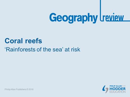 'Rainforests of the sea' at risk