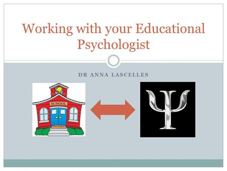 DR ANNA LASCELLES Working with your Educational Psychologist.