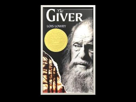 The Giver Synopsis The Giver is a novel unlike any other that I have read. It's set in the future and is told from the perspective of an 11 year old boy.