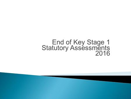 End of Key Stage 1 Statutory Assessments 2016. Teacher Assessment End of KS1 assessment will be based on judgements made by teachers throughout the key.
