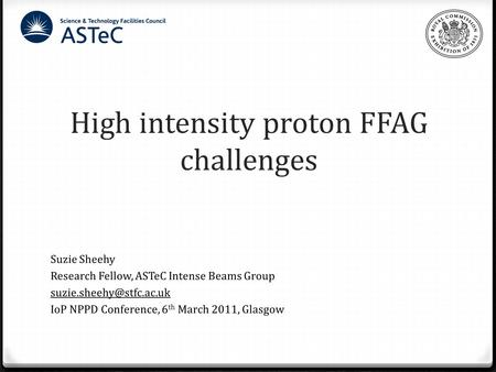 High intensity proton FFAG challenges