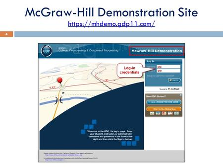 McGraw-Hill Demonstration Site 4 https://mhdemo.gdp11.com/