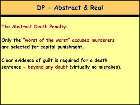 The reason behind implementing capital punishment
