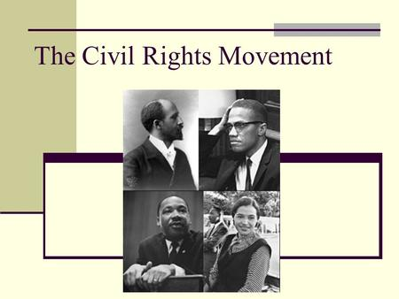 The Civil Rights Movement. Justice Delayed Although freed under the 13 th Amendment African Americans were restricted under things like the Jim Crow Laws.
