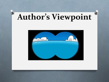 Author's Viewpoint.