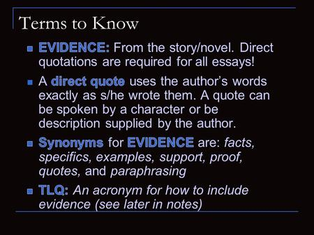 Terms to Know. Extended Response Writing Tips, formulas and tricks to reinforce what you know or to get you started.
