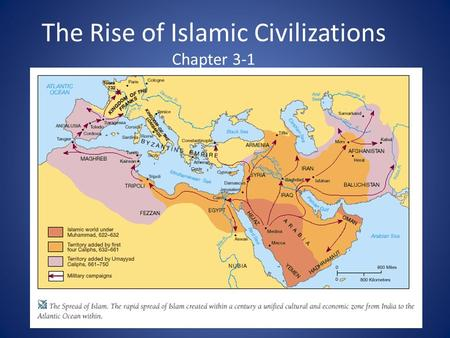 The Rise of Islamic Civilizations Chapter 3-1. The Ottomans and Safavids chapter 8-1, 8-2.