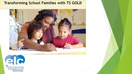 Transforming School Families with TS GOLD. Agenda Items ‒ T he Plan ‒ I mplementation ‒ 1 st Year Supports ‒ Analyzing the Data ‒ 1 st Year Outcomes ‒