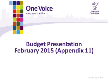 Budget Presentation February 2015 (Appendix 11). Total Budget Gap Amount Delivered so far Annual Budget Gaps: 2011/12£91.4m 2012/13£50.0m 2013/14£32.0m.
