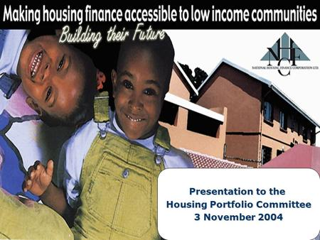 Presentation to the Housing Portfolio Committee 3 November 2004.