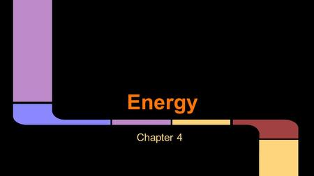 Energy Chapter 4. - the ability to do work or cause change. * When you do work on an object, some of your energy is transferred to that object * When.