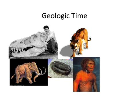 Geologic Time. Relative Time/absolute time Eons Eras Period Epoch.