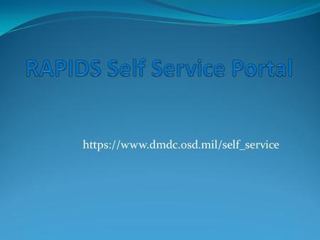 rapids self service