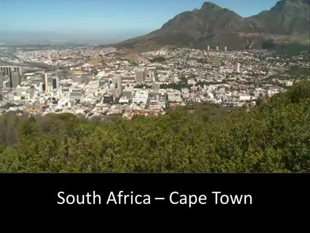 South Africa – Cape Town. 45% of the population (18 million people) live on less than £1.50 a day.18 million people 60% of the poor get no social security.