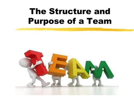 The Structure and Purpose of a Team