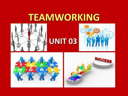 <strong>TEAMWORKING</strong> <strong>TEAMWORKING</strong> UNIT 03. WHAT DO THE FOLLOWING CHARTS TELL US ABOUT THE IMPORTANCE OF <strong>TEAMWORKING</strong>?