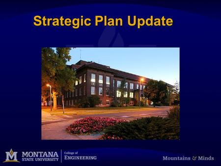 Strategic Plan Update. COE Strategic Plan Update Implementing the 2009-2014 Strategic Plan Each Goal has: Champion:Champion: Strategies:Strategies: Metrics:Metrics: