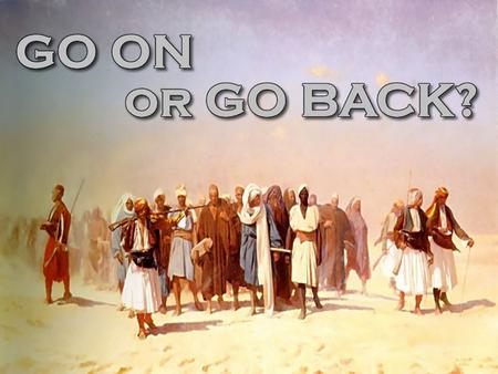 The Exodus An Outstanding World Event Started in faith Ended in victory Delivered by the Lord— Exo.14 Over ½ million men of war— Num.1:46,47 Their spirits.
