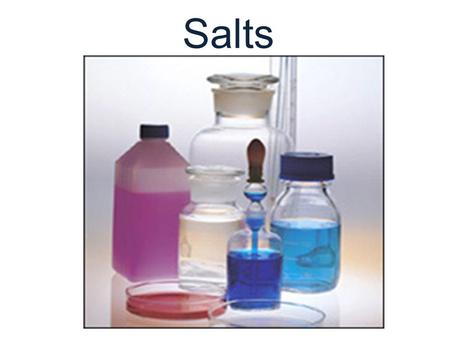 Salts. All sodium, potassium and ammonium compounds are soluble. All nitrates are soluble All common ethanoates (also called acetates) are soluble Most.