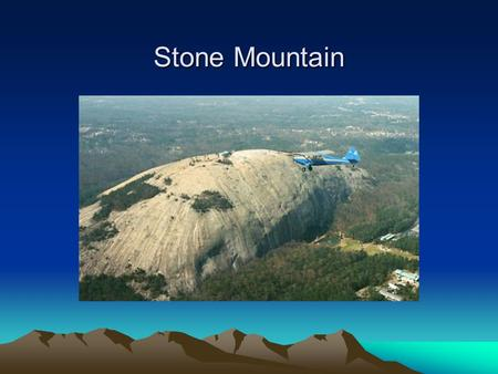Stone Mountain. Gorge Providence Canyon, GA Appalachian Mountains.