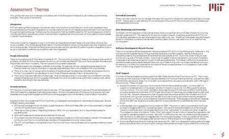 Page 1Prepared by Sapient for MITVersion 0.1 – August – September 2004 This document represents a snapshot of an evolving set of documents. For information.