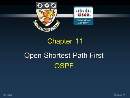 CCNA2-1 Chapter 11 Open Shortest Path First OSPF.