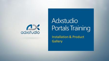 Adxstudio Portals Training
