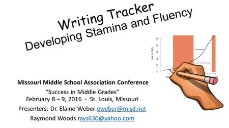 "Writing Tracker Developing Stamina and Fluency Missouri Middle School Association Conference ""Success in Middle Grades"" February 8 – 9, 2016 - St. Louis,"