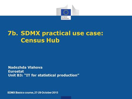 7b. SDMX practical use case: Census Hub