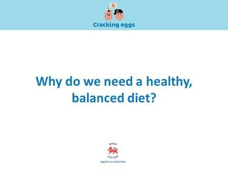 Why do we need a healthy, balanced diet?. So, what is a balanced diet?