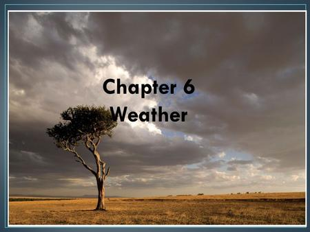 Chapter 6 Weather. An area's short term (usually a day) atmospheric condition Differs from climate which is weather over a long period of time Climate.
