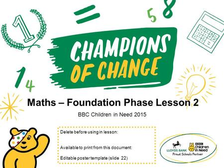 Maths – Foundation Phase Lesson 2