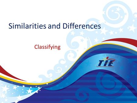 Similarities and Differences Classifying. CategoryPercentile Gain Identifying Similarities and Differences45 Summarizing and Note taking34 Reinforcing.