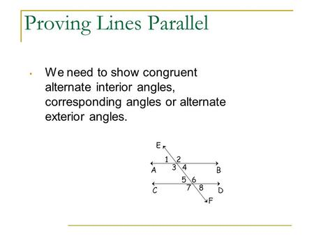 Proving Lines Parallel